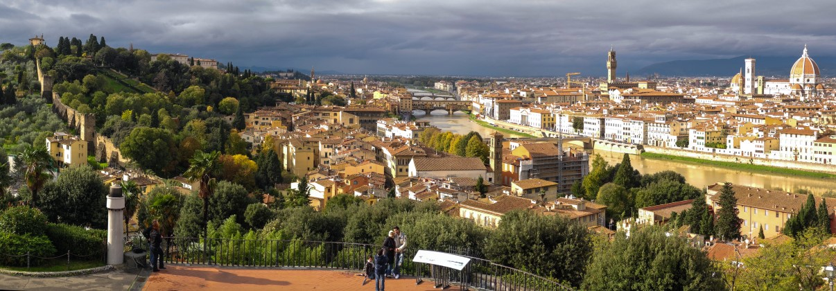 View from the hill where the statue of David is overlooking Florence.