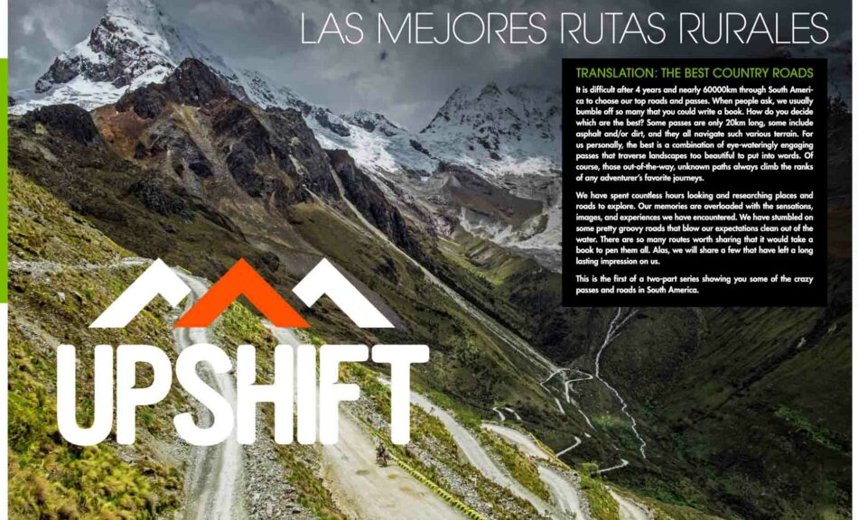 Upshift Online South America best mountain passes PikiPiki overland